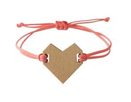 Armband hart Koraal