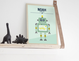 Birth poster Robot + frame