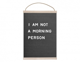 Poster: I am not a morning person