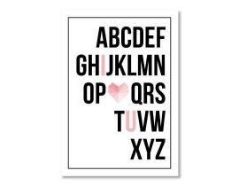Poster alfabet I♡U