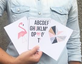 Postkaart ABC groen