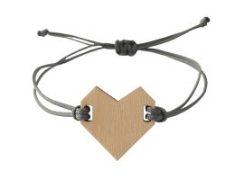 Bracelet heart Grey