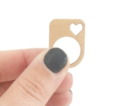 Wooden Ring Heart