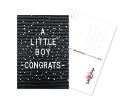 Postkaart Boy Congrats