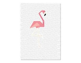 Poster Flamingo Dots