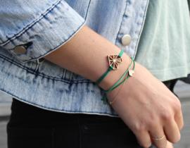 Armband - Pretty Little - groen/licht groen