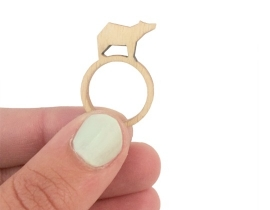Wooden Ring Bear