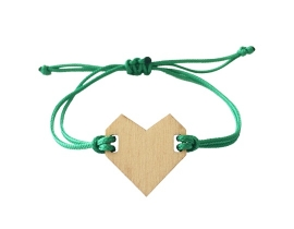 Bracelet heart Light green