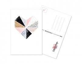 Postcard Heart Marmer
