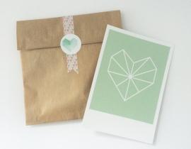 Postkaart Hart mint