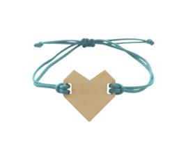 Bracelet heart Petrol