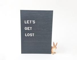 Postcard Let's get lost