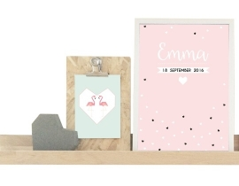 Naamposter Confetti + lijst