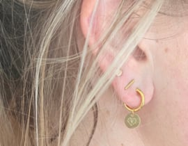 Earrings heart - round