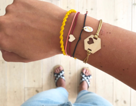 Armband - Pretty Little - bordeaux/koraal