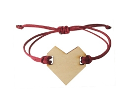 Bracelet heart Bordeaux