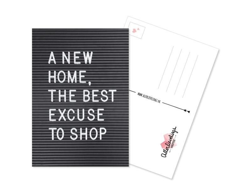 Postcard New Home
