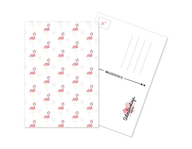Postcard Flamingo Pattern