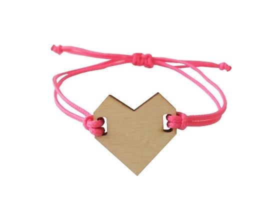 Armband hart Roze