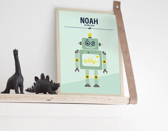 Naamposter Robot + lijst