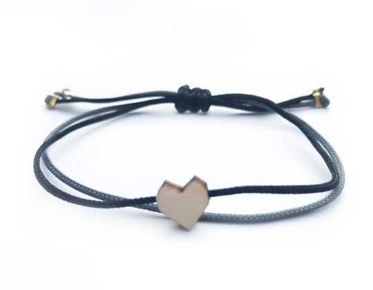 Bracelet - Pretty Little - black/grey