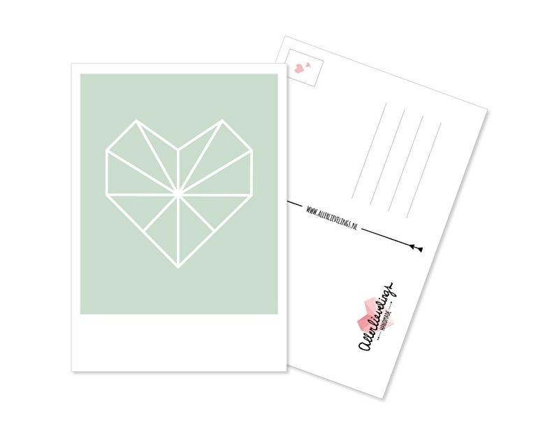 Postcard Heart mint