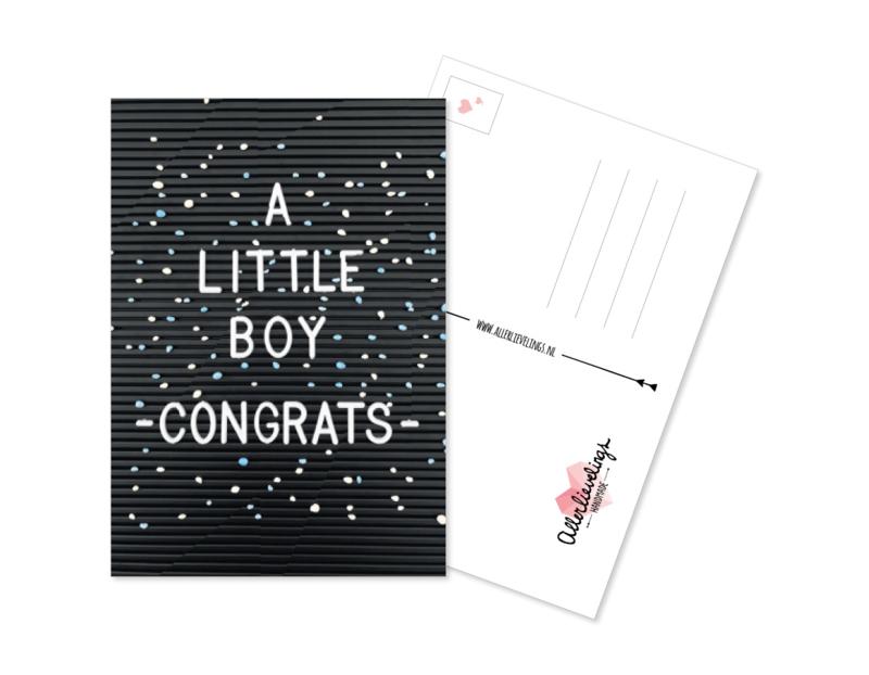 Postcard Litle Boy