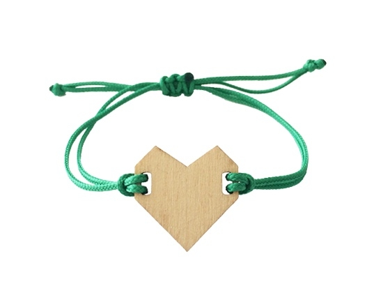 Bracelet heart Light green