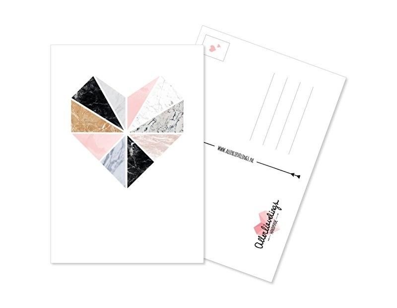 Postkaart Hart Marmer