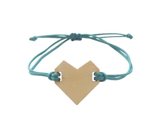 Armband hart Petrol