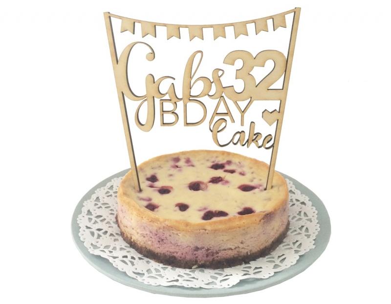 Persoonlijke Cake Topper
