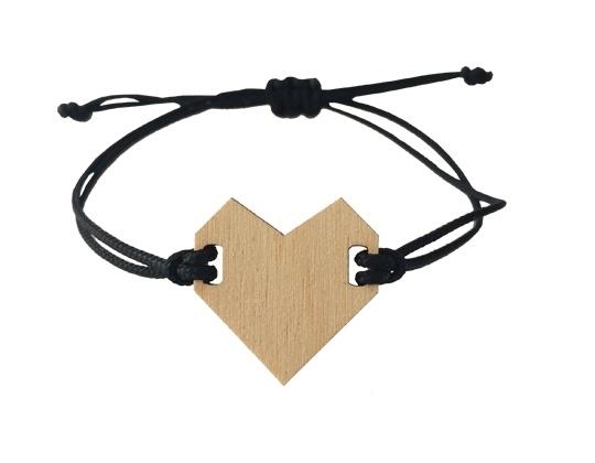 Armband hart Zwart