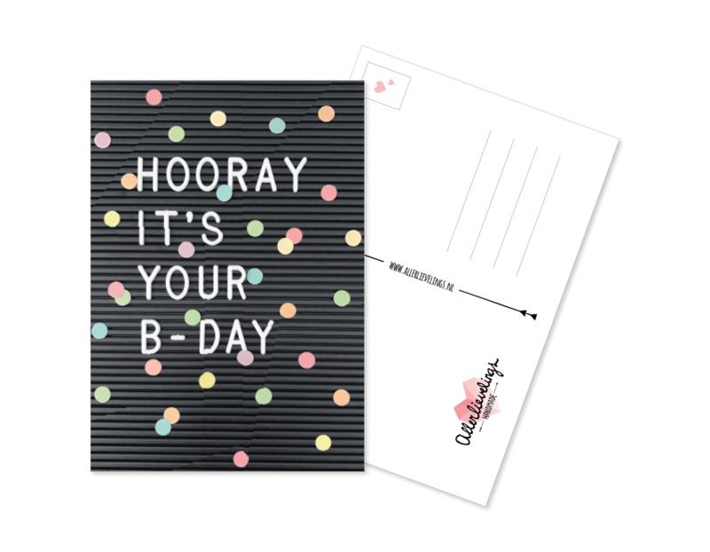 Postcard Happy B-day