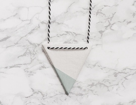 Ketting Triangle mint