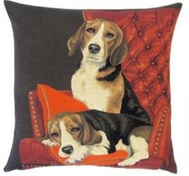 Gobelin Kissen Beagles