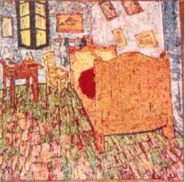 Gobelin Kissen Van Gogh Chambre à coucher 45x45cm