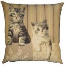 Gobelin Kissen Katzen