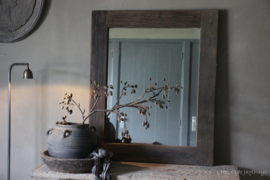 Spiegel Oud Hout ''Rough'' 90x75 cm