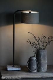 Tafellamp Ronde Buis Boog Aura Peeperkorn (lichtgrijze buis)