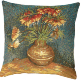 Gobelin kussen Van Gogh Kievitsbloemen 50x50cm