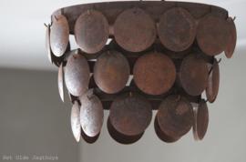 Metalen Schijvenlamp Plafonniere Roest