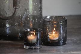 Windlicht Smokey Grey Bubbles 7/7 cm -Puur Wonen-
