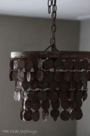 Metalen Schijvenlamp Plafonniere Roest 32 cm