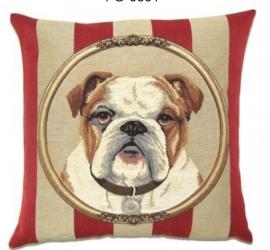 Gobelin Kissen Bulldogge