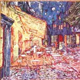 Gobelin Kissen Van Gogh La Terrasse 45x45cm