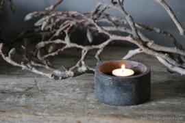 Kerzenschale Grey Finish