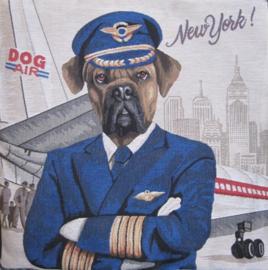 Gobelin Kissen Boxer Pilot