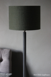 Vloerlamp Aura Peeperkorn ''Dunne Haas'' 150 cm (lichtgrijze buis)