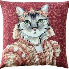 Gobelin Kissen Bijoux Katze