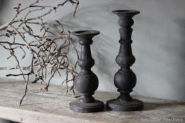 Hölzerner Kerzenhalter '' Vintage Grey '' Größe L.